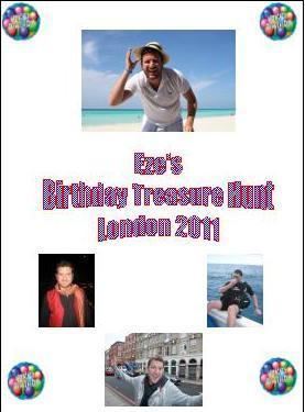 DIY treasure hunt Birthday cover